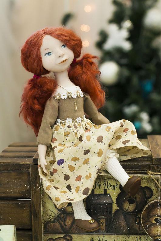 Коллекционные куклы ручной работы. Ярмарка Мастеров - ручная работа. Купить Веселые веснушки. Handmade. Коричневый, коллекционная кукла