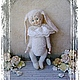 Мишки Тедди ручной работы. Ярмарка Мастеров - ручная работа. Купить Белый Кролик из Страны чудес. Тедди-долл. Handmade.