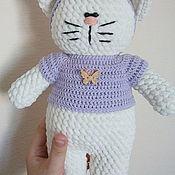 Куклы и игрушки ручной работы. Ярмарка Мастеров - ручная работа Плюшевая кошка. Handmade.