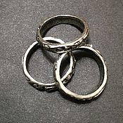 Основа для кольца с выемкой для крепления с узором