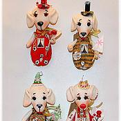 Куклы и игрушки ручной работы. Ярмарка Мастеров - ручная работа авторская игрушка Собачка. Handmade.
