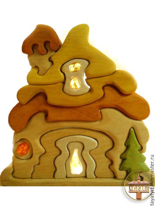Развивающие игрушки ручной работы. Ярмарка Мастеров - ручная работа. Купить Янтарный домик с ёлочкой. Handmade. Комбинированный, янтарь