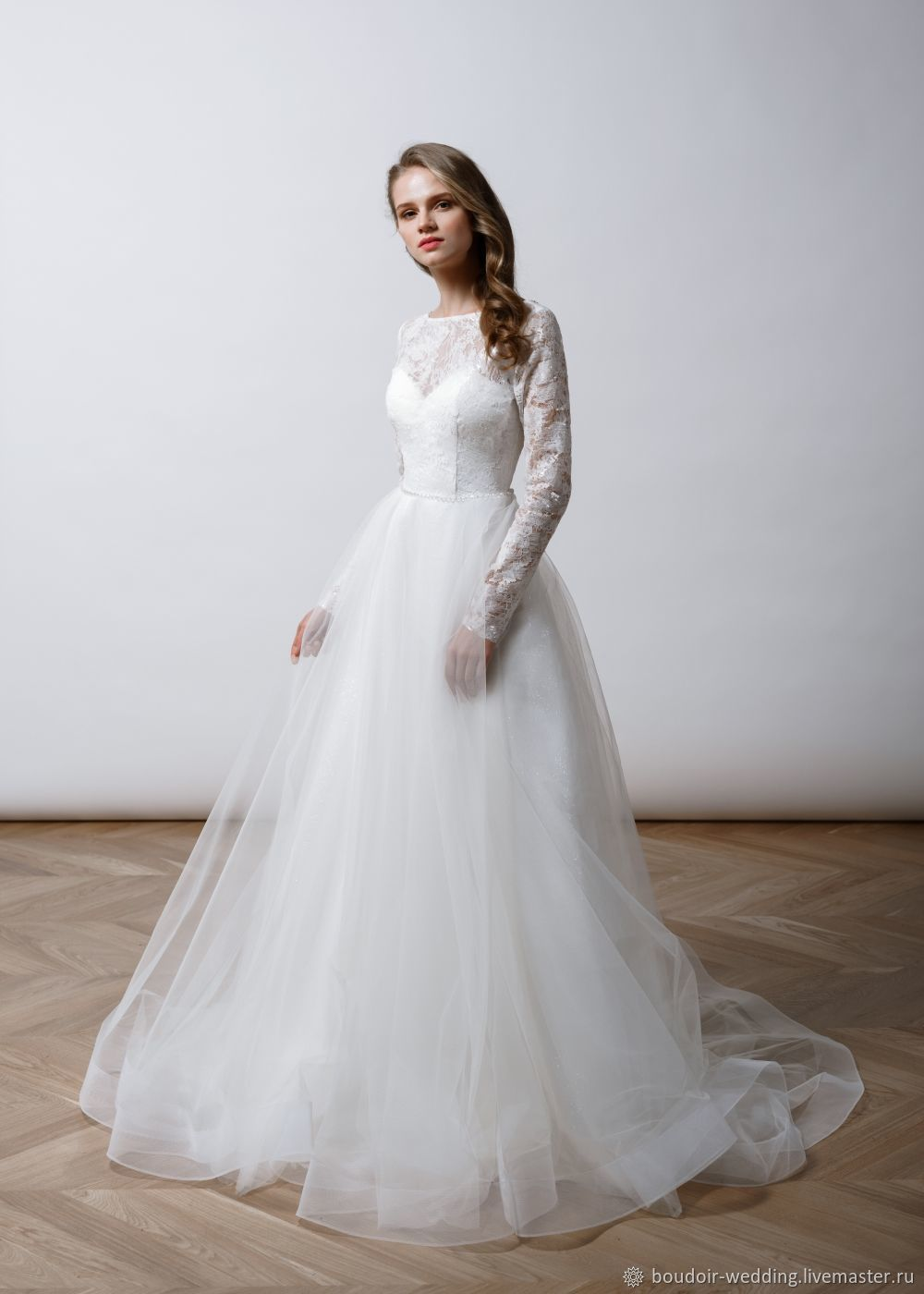 df21e18c339 Wedding dress with sleeves Azalea – shop online on Livemaster with ...