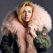 Одежда handmade. Livemaster - original item Parka fur (pink). Handmade.