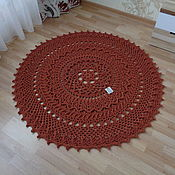 Для дома и интерьера handmade. Livemaster - original item Cotton knitted carpet