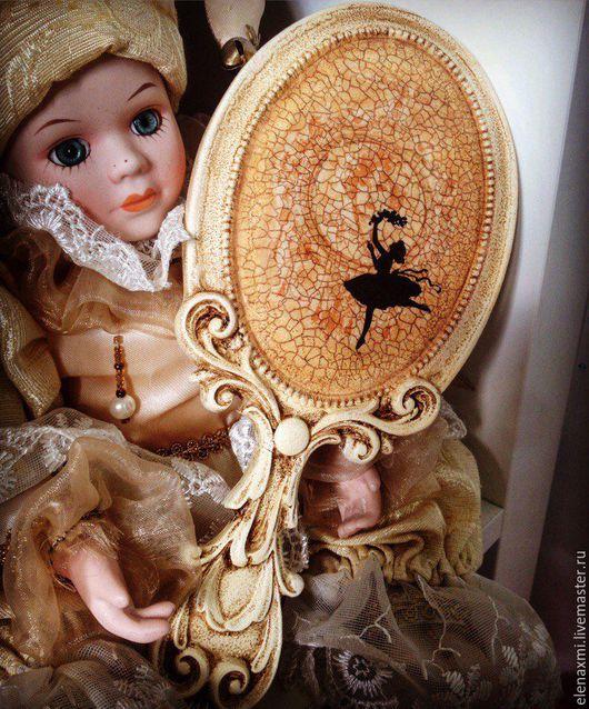 """Декорированные зеркальца ручной работы. Ярмарка Мастеров - ручная работа. Купить Зеркало """"Балерина"""". Handmade. Зеркало ручной работы"""