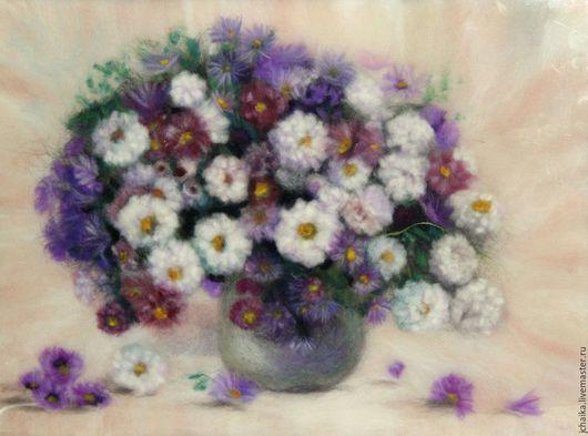 Картины цветов ручной работы. Ярмарка Мастеров - ручная работа. Купить Зефирный букет. Handmade. Кремовый, букет цветов