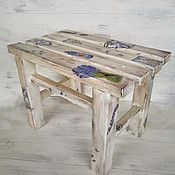 Табуреты ручной работы. Ярмарка Мастеров - ручная работа Табурет деревянный в стиле прованс. Handmade.