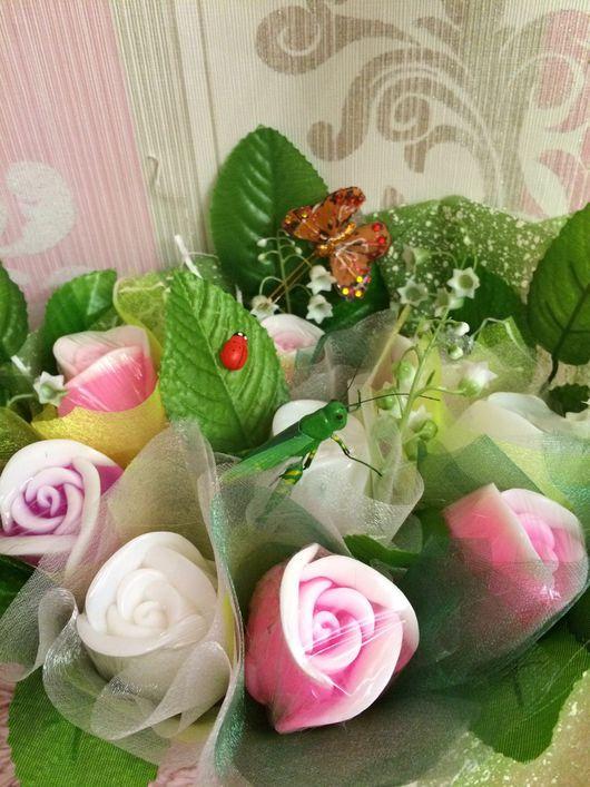 Мыло ручной работы. Ярмарка Мастеров - ручная работа. Купить Корзинка из мыльных роз, подарок на 8 марта, мыльный букет. Handmade.