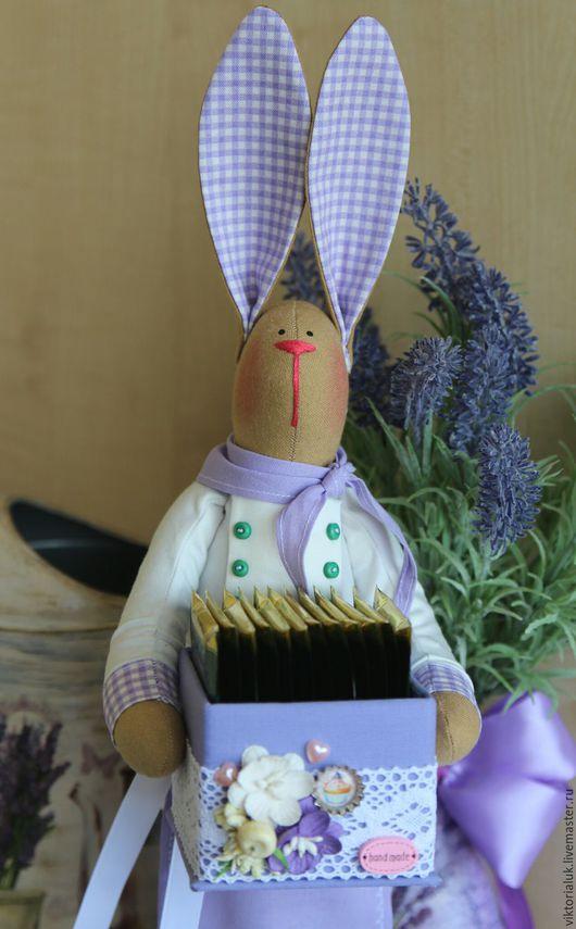 Куклы Тильды ручной работы. Ярмарка Мастеров - ручная работа. Купить Зайка поварёнок. Handmade. Фиолетовый, зайка тильда, кухня