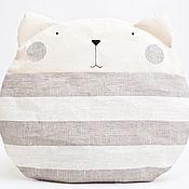 Для дома и интерьера ручной работы. Ярмарка Мастеров - ручная работа Подушка кот полосатый, декор в детскую, подарок, Pillow. Handmade.