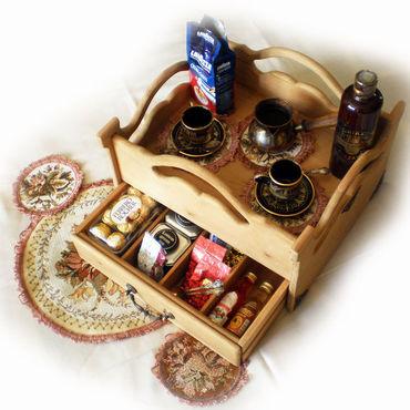 Для дома и интерьера ручной работы. Ярмарка Мастеров - ручная работа Сервировочный поднос с ящиком. Handmade.