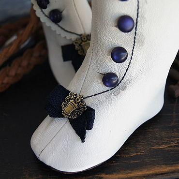 """Куклы и игрушки ручной работы. Ярмарка Мастеров - ручная работа Обувь для Антикварной и современной куклы """"Sea"""". Handmade."""