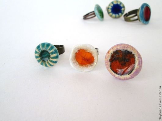 Кольца ручной работы. Ярмарка Мастеров - ручная работа. Купить Керамические кольца. Handmade. Керамические кольца, красная глина