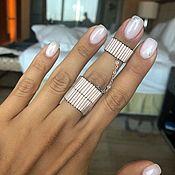 Украшения handmade. Livemaster - original item Double ring MUDRA VANILLA. Handmade.