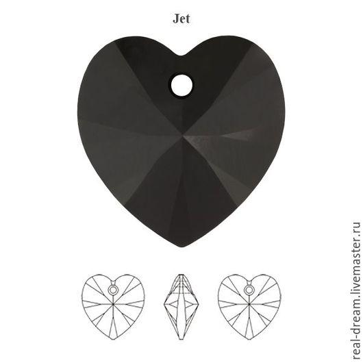 Для украшений ручной работы. Ярмарка Мастеров - ручная работа. Купить Swarovski 6228, 14 мм, Jet В ПРОДАЖЕ. Handmade.