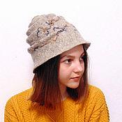 Аксессуары handmade. Livemaster - original item Snail hat, wool felted. Handmade.