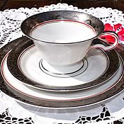 Винтаж handmade. Livemaster - original item Hutschenreuther .Paul Müller (1928-1943) Lovely tea trio.. Handmade.