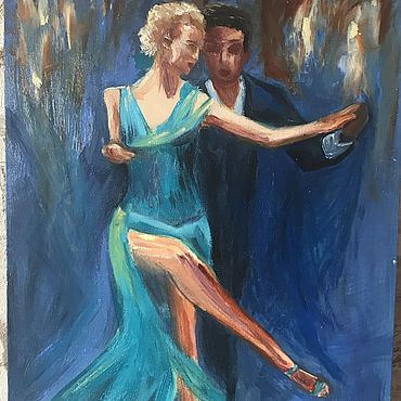 Картины и панно ручной работы. Ярмарка Мастеров - ручная работа Картины: Танго маслом. Handmade.