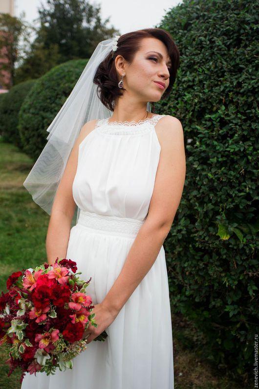 Одежда и аксессуары ручной работы. Ярмарка Мастеров - ручная работа. Купить Свадебное платье в греческом стиле. Handmade. Белый, шифон