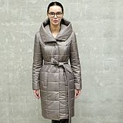 Пальто ручной работы. Ярмарка Мастеров - ручная работа Пальто женское утепленное Verde Canna. Handmade.