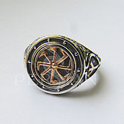 Украшения handmade. Livemaster - original item Men`s ring Runes. Handmade.