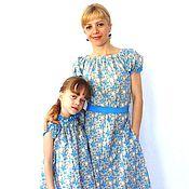 Одежда handmade. Livemaster - original item Dress for mother and daughter cotton