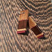 Украшения handmade. Livemaster - original item Lilac evening earrings, wooden earrings, mosaic inlay. Handmade.