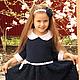 """Одежда для девочек, ручной работы. Ярмарка Мастеров - ручная работа. Купить Платье """"Отличница"""". Handmade. Вязание крючком, платье для девочки"""