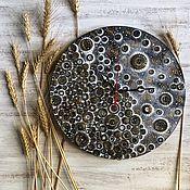 Для дома и интерьера handmade. Livemaster - original item Wall clock Buttons. Handmade.