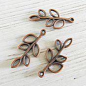 Материалы для творчества handmade. Livemaster - original item Sprig pendant 3,3 cm on Copper (Ref. 1750). Handmade.