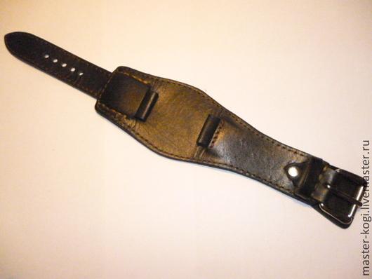 """Пояса, ремни ручной работы. Ярмарка Мастеров - ручная работа. Купить ремешок на часы """"Стильный"""". Handmade. Черный, мужской аксессуар"""