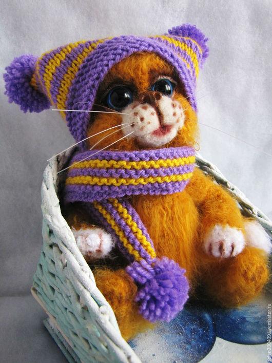 Игрушки животные, ручной работы. Ярмарка Мастеров - ручная работа. Купить котенок Маруся. Handmade. Рыжий, игрушка, котенок, пряжа