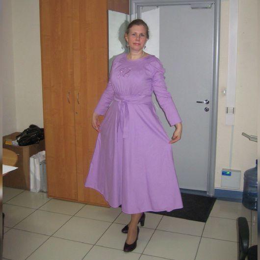 Платья ручной работы. Ярмарка Мастеров - ручная работа. Купить Платье с вышивкой на груди. Handmade. Платье, платье в пол