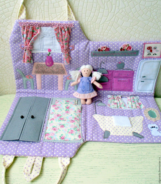 Домик из ткани своими руками для куклы