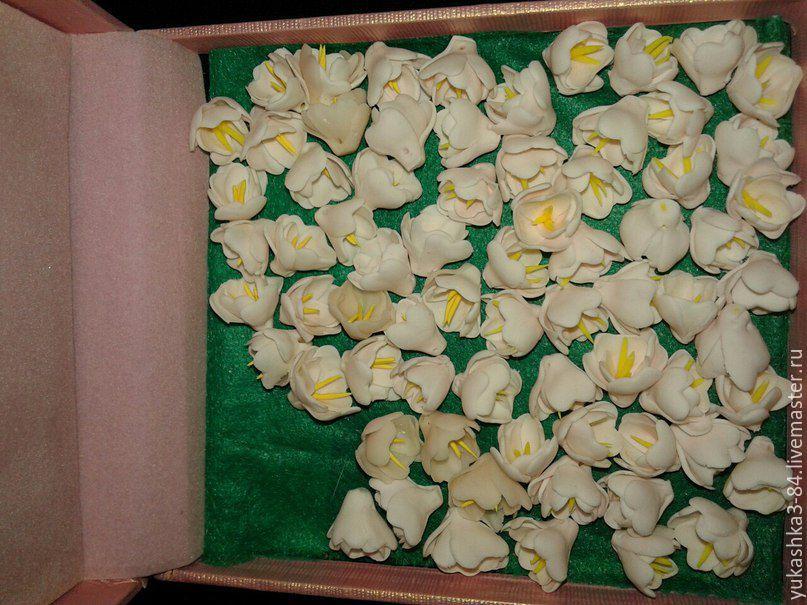 Заколки ручной работы. Ярмарка Мастеров - ручная работа. Купить Цветочки миниатюры. Handmade. Полимерная глина, миниатюра из пластики