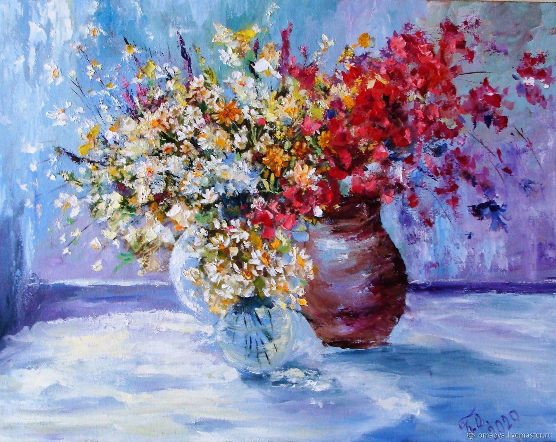 ' Sunny flowers of summer ' oil on canvas, Pictures, Nizhny Novgorod,  Фото №1