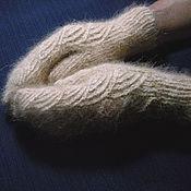 Аксессуары handmade. Livemaster - original item Women`s knitted mittens Golden dunes. Handmade.
