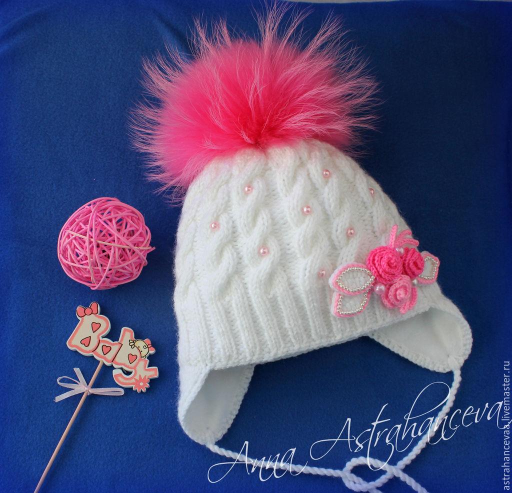 Детская шапочка с косами