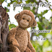 Материалы для творчества handmade. Livemaster - original item Monkey Teddy, pattern, pdf. Handmade.