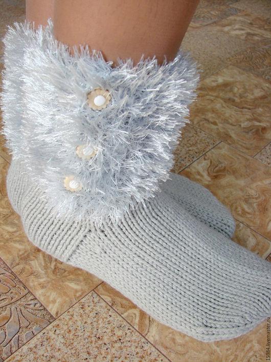 Носки, Чулки ручной работы. Ярмарка Мастеров - ручная работа. Купить Домашние носочки-сапожки