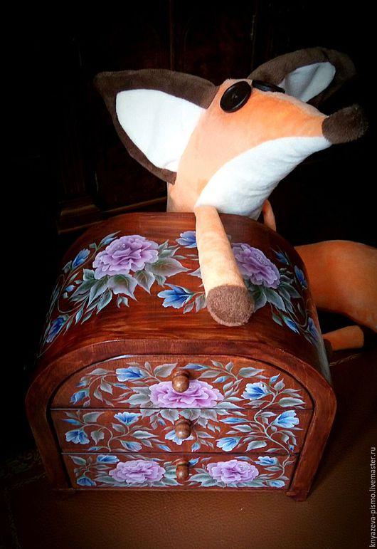 Мини-комоды ручной работы. Ярмарка Мастеров - ручная работа. Купить Мини комод Цветочный. Handmade. Мини-комод