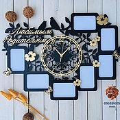 Сувениры и подарки handmade. Livemaster - original item Clock frame, for photos.. Handmade.