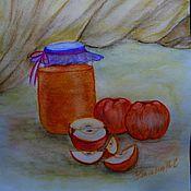 """Картины и панно ручной работы. Ярмарка Мастеров - ручная работа Натюрморт """"Яблочный Спас"""". Handmade."""