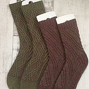Носки ручной работы. Ярмарка Мастеров - ручная работа Носки: Vintage Tartan Socks ОМУТ (family look). Handmade.