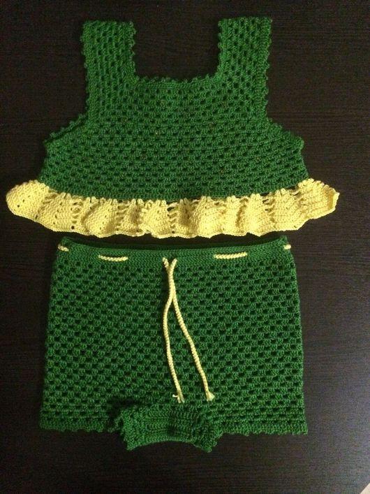 Одежда для девочек, ручной работы. Ярмарка Мастеров - ручная работа. Купить Летний вязанный крючком костюм. Handmade. Летний комплект