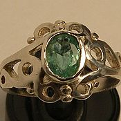Украшения handmade. Livemaster - original item Natural emerald 0.5 K & 925 silver ring. Handmade.