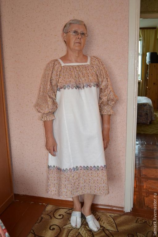 Платья ручной работы. Ярмарка Мастеров - ручная работа. Купить Платье в народном русском стиле. Handmade. Разноцветный, повседневное платье