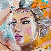 Картины и панно ручной работы. Ярмарка Мастеров - ручная работа Elle Портрет маслом. Handmade.
