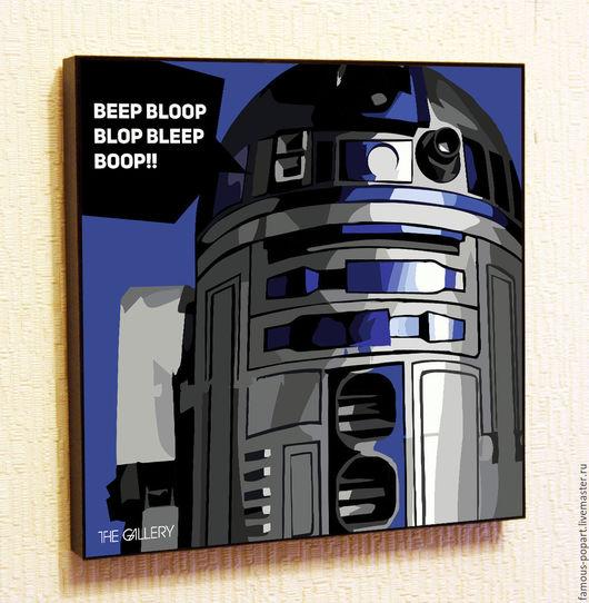 Фотокартины ручной работы. Ярмарка Мастеров - ручная работа. Купить Картина Звездные войны R2-D2 Star Wars. Handmade.